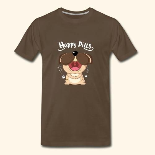 Pug Happy Pills - Men's Premium T-Shirt