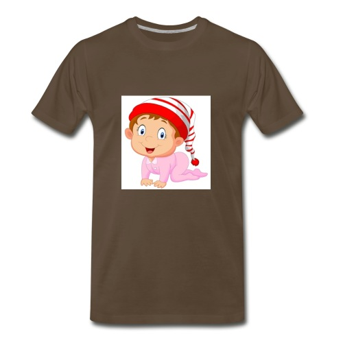 baby girl cartoon vector 4988650 - Men's Premium T-Shirt