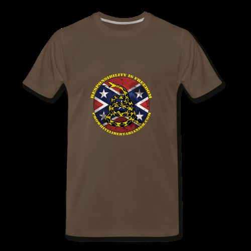 Pro-White Libertarianism Logo - Men's Premium T-Shirt