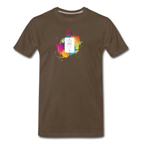 Gray life without a boxer - Men's Premium T-Shirt