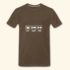 eat sleep gym 1 - Men's Premium T-Shirt