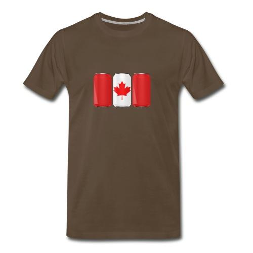 Beer Can Canada Flag - Men's Premium T-Shirt
