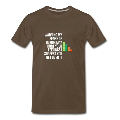 warning my sense of humor - Men's Premium T-Shirt