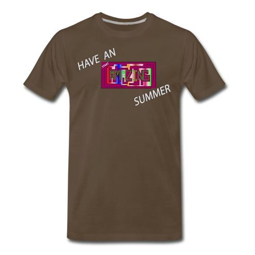AMAZING SUMMER - White - Men's Premium T-Shirt
