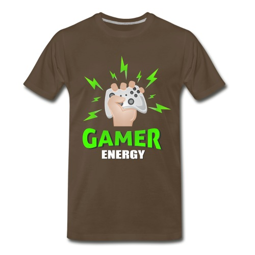 Gamer energy shirt game player for men and women - Men's Premium T-Shirt