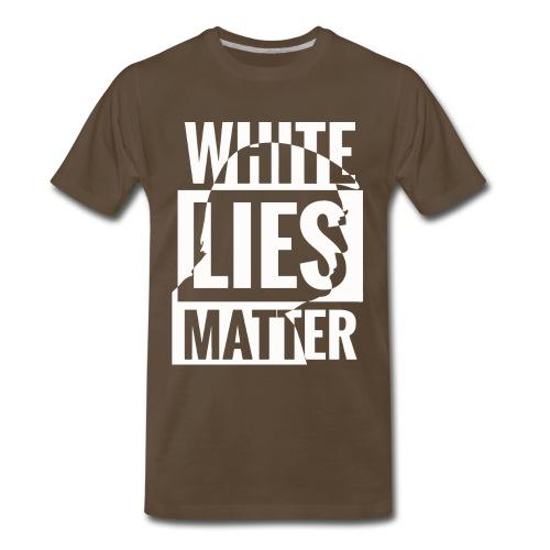 Trump white lies matter shirt - Men's Premium T-Shirt