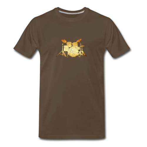 Gold Grunge Drum Kit - Men's Premium T-Shirt