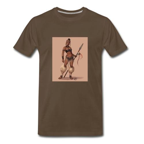 Female Warrior - Men's Premium T-Shirt