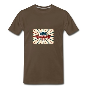 vector retro freedom illustration - Men's Premium T-Shirt