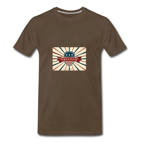 vector retro freedom illustration - Men's Premium T-Shirt