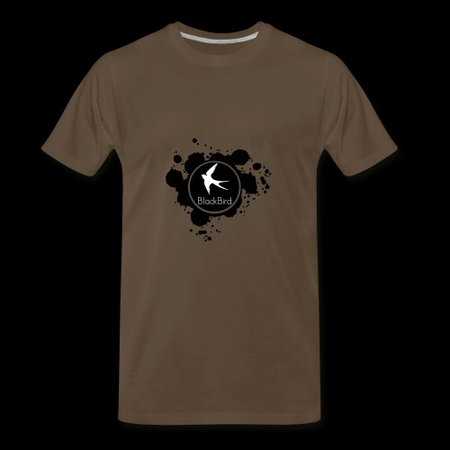 BlackBird Ink Spill Logo - Men's Premium T-Shirt