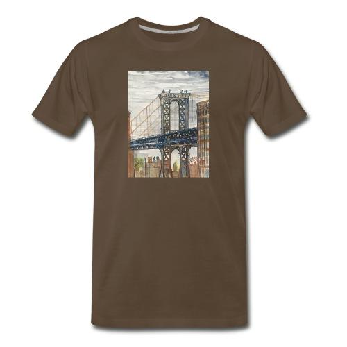 NYC BRIDGE Art by Timothy Leistner - Men's Premium T-Shirt