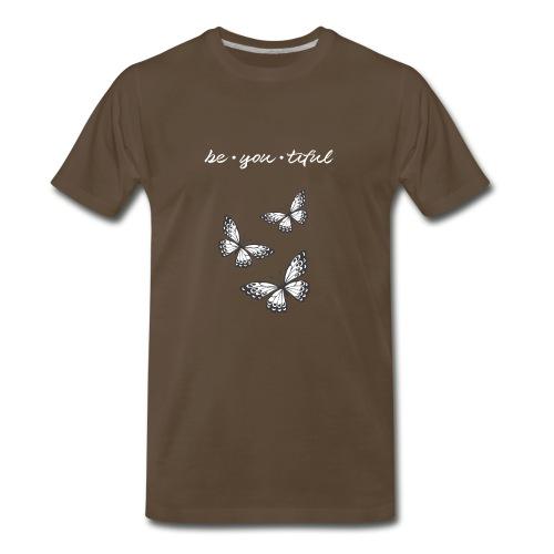 Be • You • Tiful Tank (Grey Tip Wings)-white font - Men's Premium T-Shirt