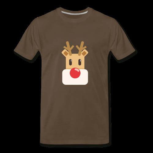reindeer present idea - Men's Premium T-Shirt
