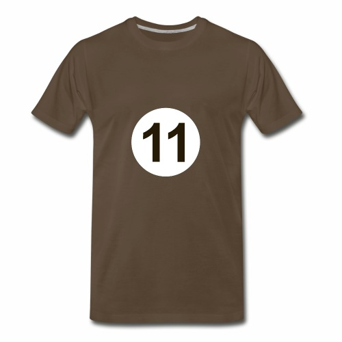 11 Crew White Logo - Men's Premium T-Shirt
