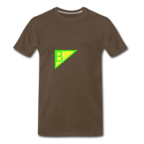 Neon green superman - Men's Premium T-Shirt