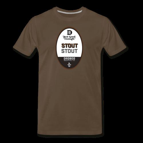 STOUT Stout - Dadbod Brewing Co - Men's Premium T-Shirt