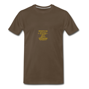tshirt_pilotVersion_nologo_gold - Men's Premium T-Shirt