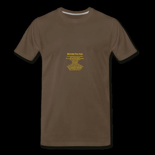 tshirt_pilotVersion_nologo_gold - Men's Premium T-Shirt