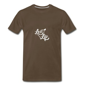 Lost in Life White on Dark logo small - Men's Premium T-Shirt