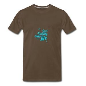 Sweet sunday happy life - Men's Premium T-Shirt