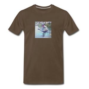 Pugsters Lucy on Rock - Men's Premium T-Shirt