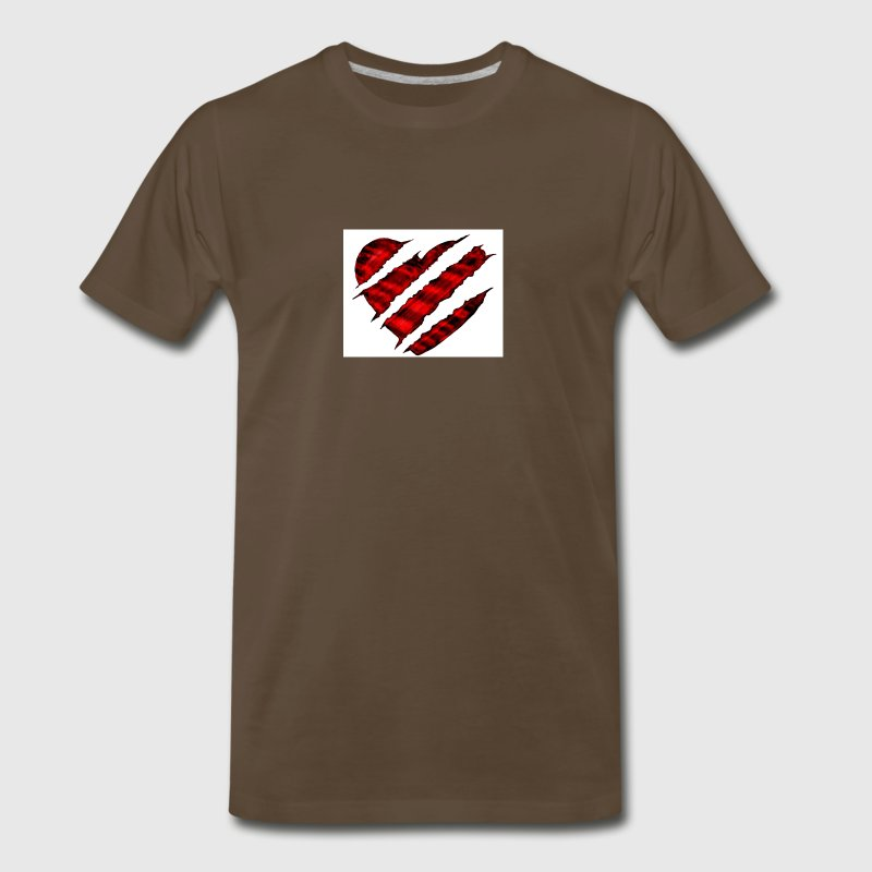 scratched heart - Men's Premium T-Shirt