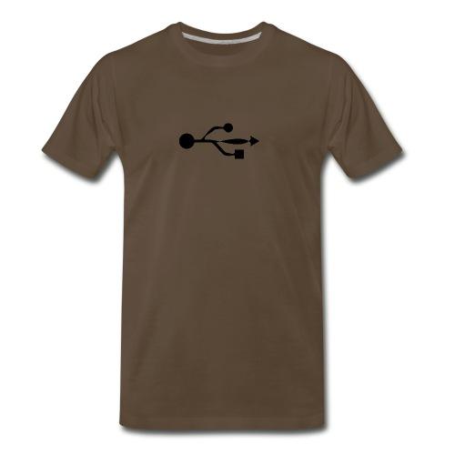 USB Logo Wonky - Men's Premium T-Shirt