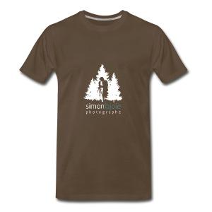 Logo Simon Lajoie Photographe Blanc - T-shirt premium pour hommes