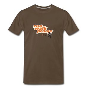 Run, Walk, Praise Fitness Shirt - Orange - Men's Premium T-Shirt