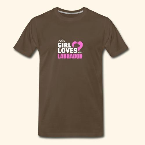 Girls Love Labrador - Men's Premium T-Shirt