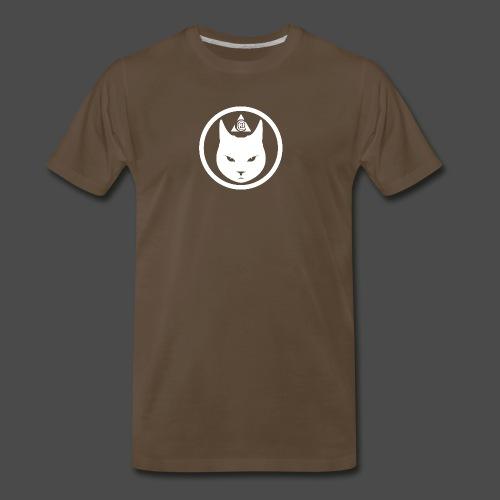 Cat Head Logo White - Men's Premium T-Shirt