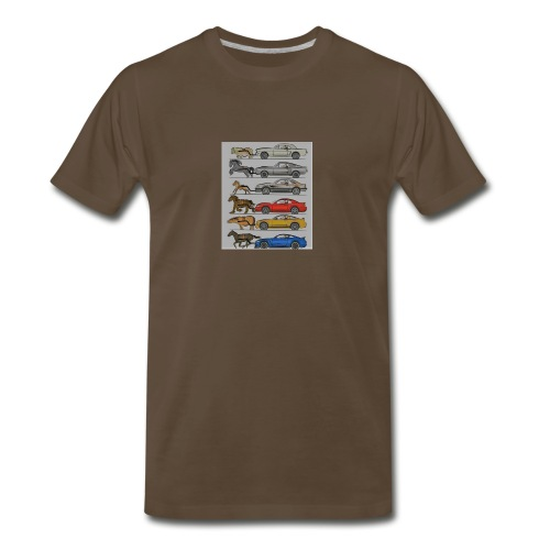 Cars with real animal logo - Men's Premium T-Shirt