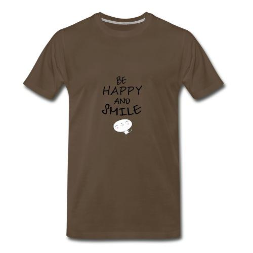 be happy and smile unique coffee mug - Men's Premium T-Shirt