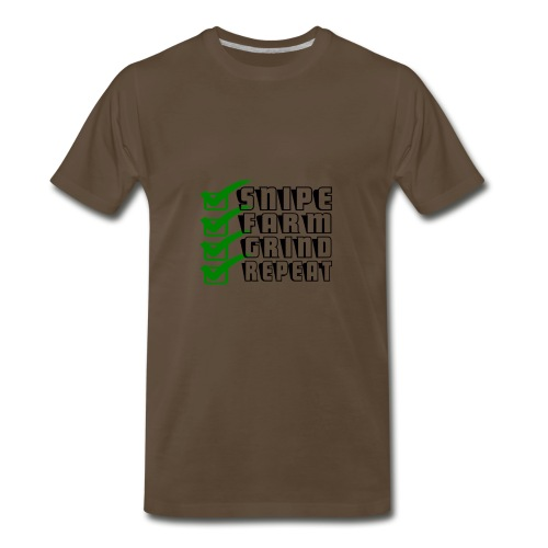 snipe farm grind repeat - Men's Premium T-Shirt