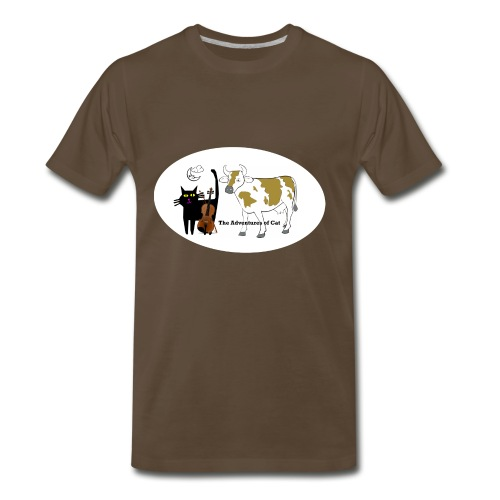 Cat Found a Fiddle - Men's Premium T-Shirt