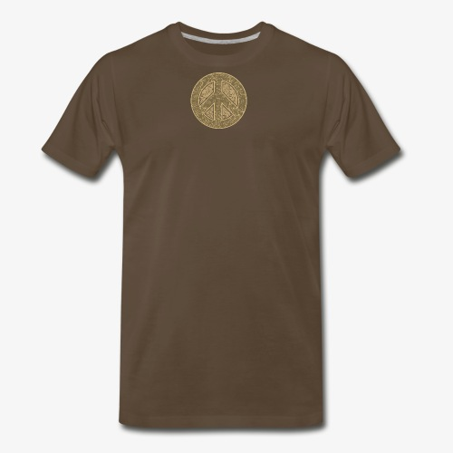 Peace Symbol Khaki - Men's Premium T-Shirt