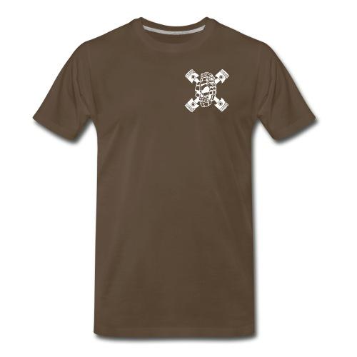 ZD SKULL BONES WHITE - Men's Premium T-Shirt