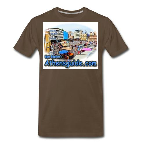 Athensguide Monastiraki jpg - Men's Premium T-Shirt