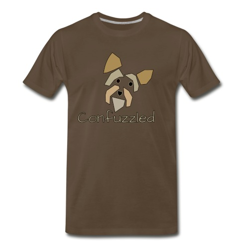 Attitude Dog: Confuzzled Yorkie - Men's Premium T-Shirt
