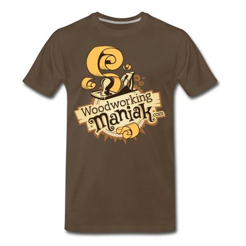 WoodworkingManiak logo 1 LARGE png - Men's Premium T-Shirt