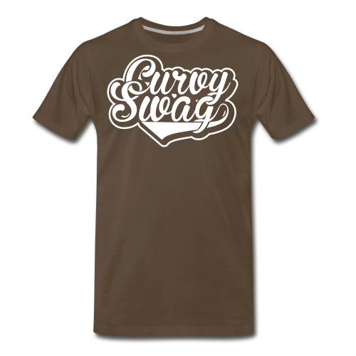 Curvy Swag Reversed Out Design - Men's Premium T-Shirt