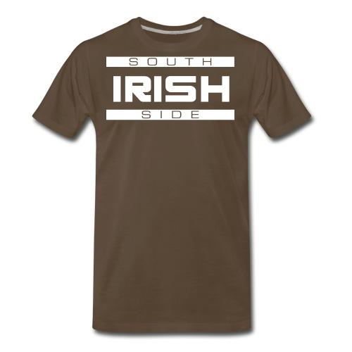 Southside Irish White - Two Bar - Men's Premium T-Shirt
