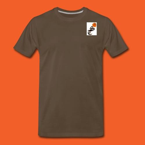 ST rose design - Men's Premium T-Shirt