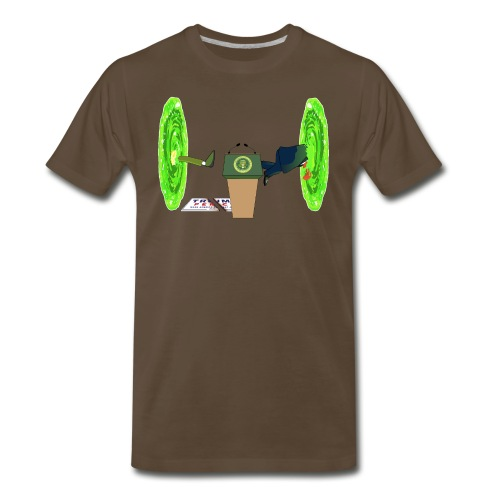 Trump and the Space Portal - Men's Premium T-Shirt