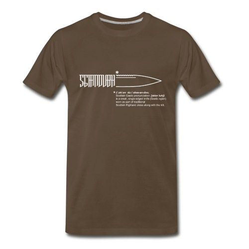 sgiandubh white - Men's Premium T-Shirt