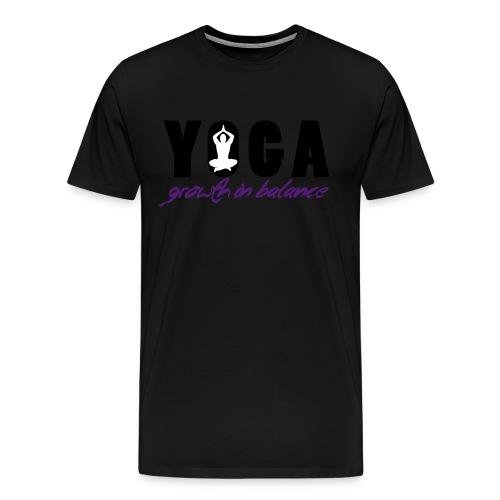 YOGA - Growth in Balance - Men's Premium T-Shirt