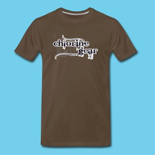 Chlorine Gear Textual stacked Periodic backdrop - Men's Premium T-Shirt