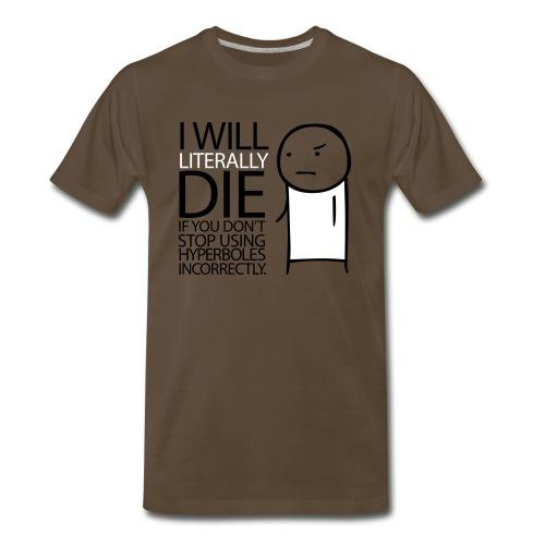 GRAMMAR Hyperbole - Men's Premium T-Shirt