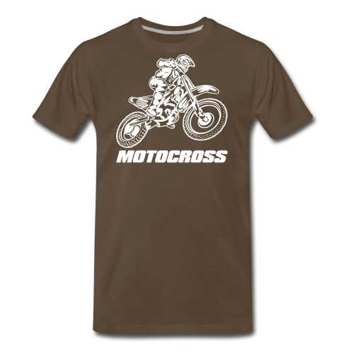Motocross Logo White - Men's Premium T-Shirt